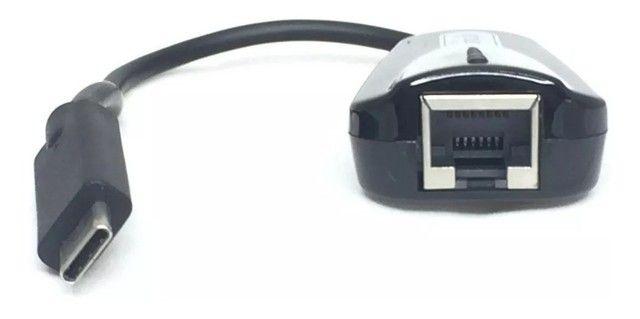 Adaptador usb tipo-c para rede rj45 ethernet 10/100 kp-t87 - Foto 2