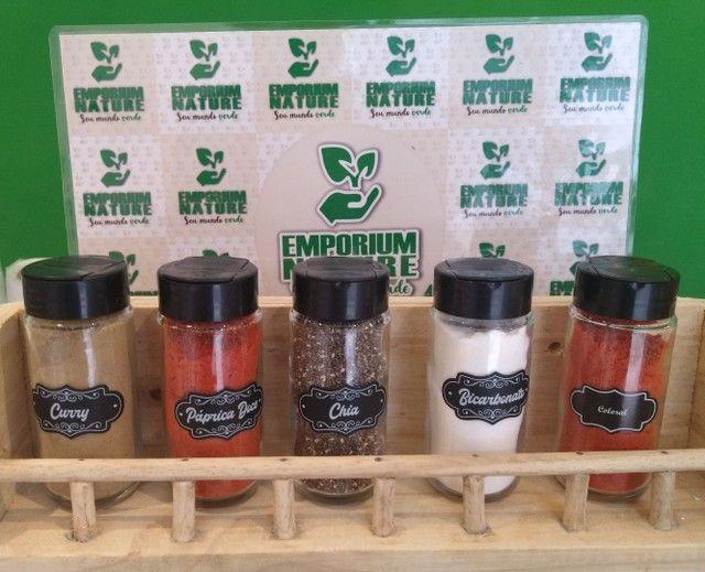 Kit 5 Potes para condimentos/temperos