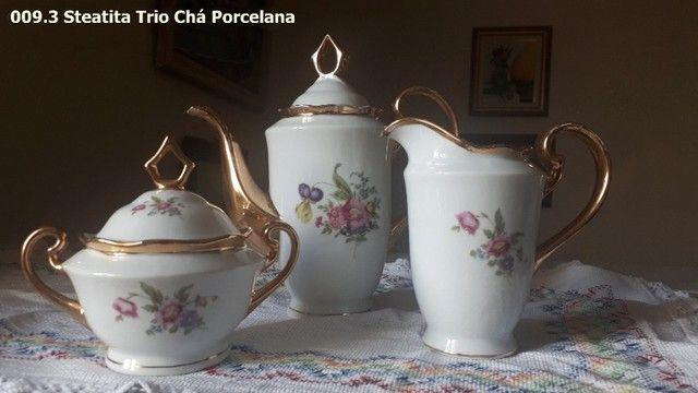 Trio de Porcelana Steatita - Foto 2