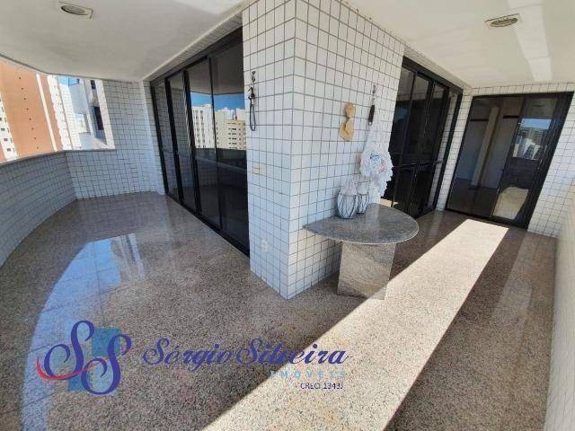 Apartamento na Aldeota com 4 suítes todas com closet, amplo e ventilado, nascente 4 vagas - Foto 17