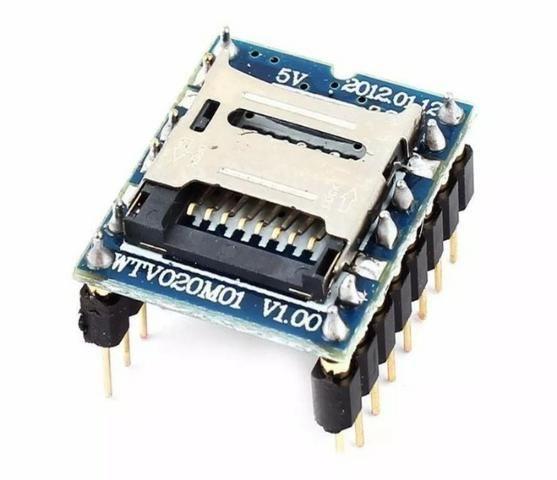 COD-AM160 Módulo Mp3 Som Micro Sd Wtv020sd Wtv020 Sd Arduino Automação Robotica - Foto 3