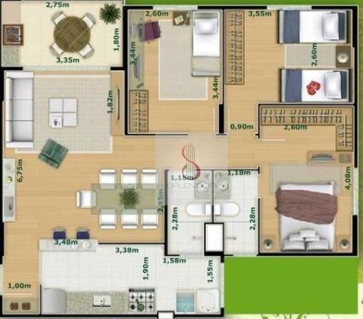 Apartamento com 3 dormitórios à venda, 81 m² por r$ 400.000,00 - urbanova - são josé dos c - Foto 4