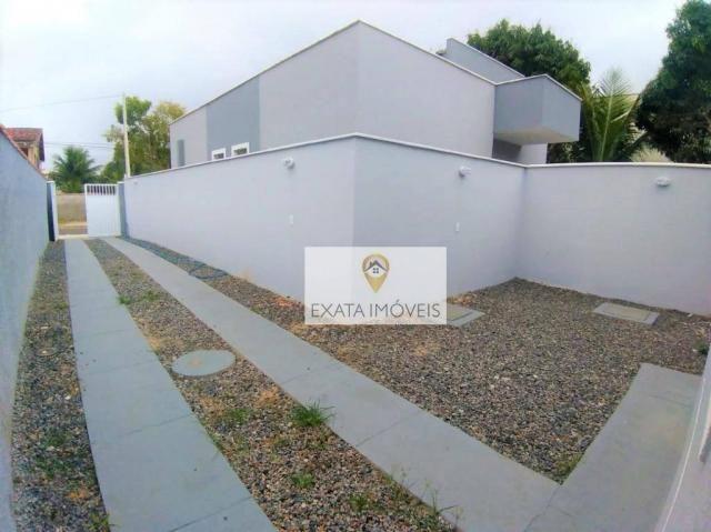 Lançamento! Casas lineares com bom quintal, Extensão Serramar/Rio das Ostras. - Foto 10