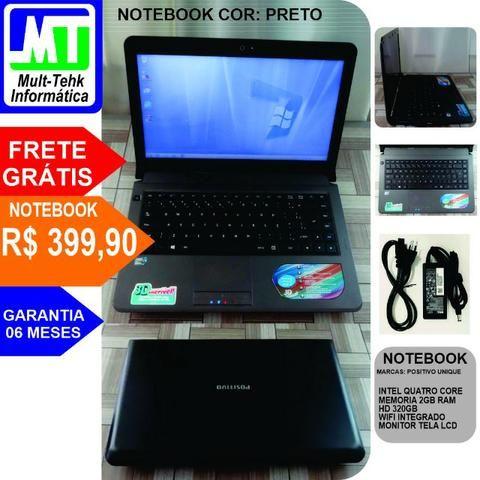 Notebook Positivo 2gb Hd 320 + Frete Grátis