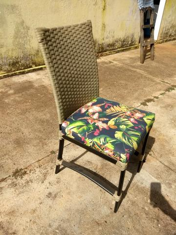6 Cadeiras de Junco Seminovas