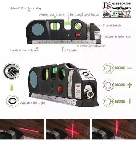 Nível Laser Profissional Trena Level Nivelador Régua-Top!!!! R$ 40 - Foto 5