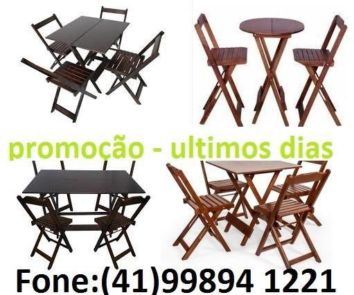Mesas e cadeiras dobraveis - estabelecimentos comerciais e residencias