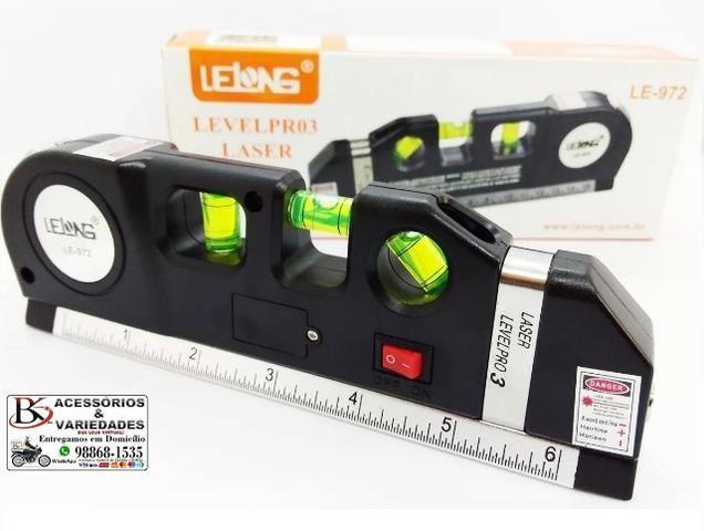 Nível Laser Profissional Trena Level Nivelador Régua-Top!!!! R$ 40 - Foto 4