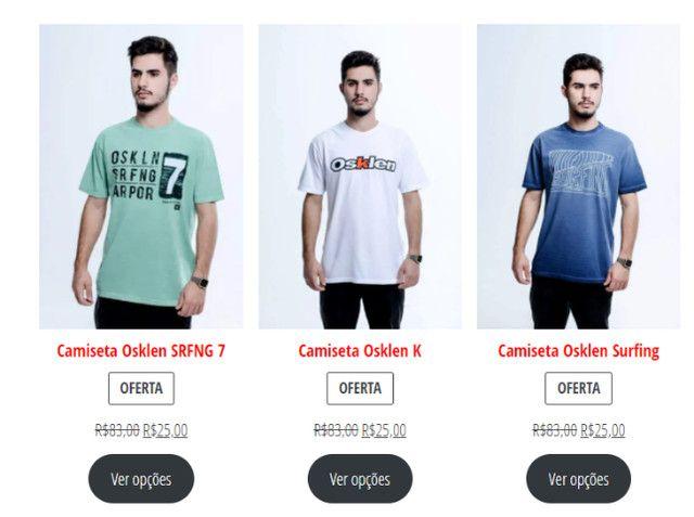 Camisetas Originais com 70% de desconto (Black November) - Foto 2