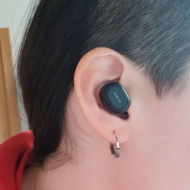 Ultimas unidades Fone Qcy T1c duplo Original Bluetooth 5.0 + Case lacrado - Foto 3