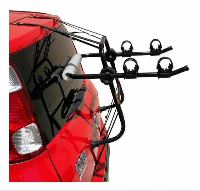 Suporte Transbike Porta-Malas com Presilhas (Carros tipo Sedan e Hatch) - 2 Bikes - Foto 3