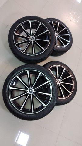 Rodas aro 20 com pneus novos - Foto 4