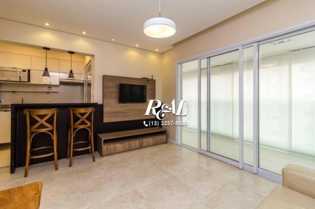 Apartamento com 1 dormitório para alugar, 53 m² por R$ 3.200,00/mês - Ponta da Praia - San - Foto 4