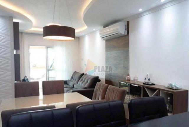 Apartamento com 2 dormitórios para alugar, 76 m² por R$ 3.000,00/mês - Tupi - Praia Grande - Foto 3