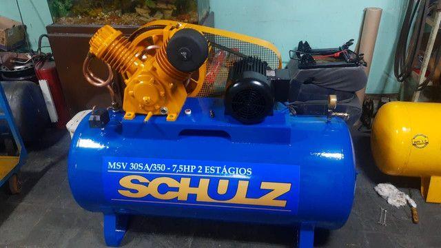 Compressor Schulz, 30 pés, 350 litros, ótimo estado, trifásico.