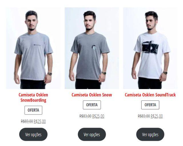 Camisetas Originais com 70% de desconto (Black November)