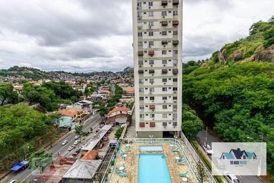Apartamento com 2 dormitórios para alugar, 65 m² por R$ 850,00/mês - Engenhoca - Niterói/R - Foto 4