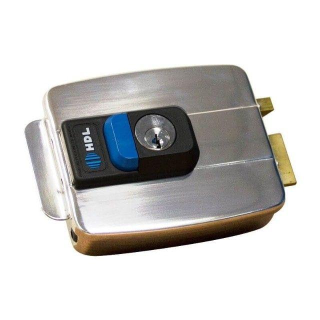 Fechadura Elétrica C90 Hdl Inox Cilindro Fixo -abre P Dentro