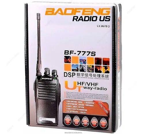 1 (PAR) Rádio Comunicador Walk Talk Baofeng Bf-777s