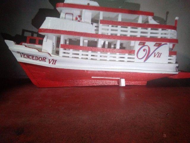 Miniatura de barco regional feito de isopor com 74cm de comprimento  - Foto 2