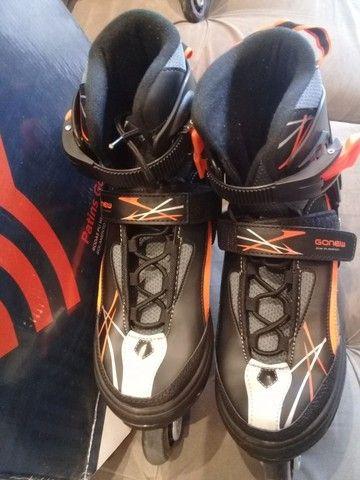Vendo dois patins gonew Flexx 2.0 são patins profissionais. Valor 150,00 cada - Foto 5