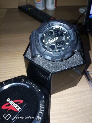 afa7fe571a3 Relógio Casio G-Shock Ga-100bbn-1 Pulseira Tecido Nylon - Foto 4