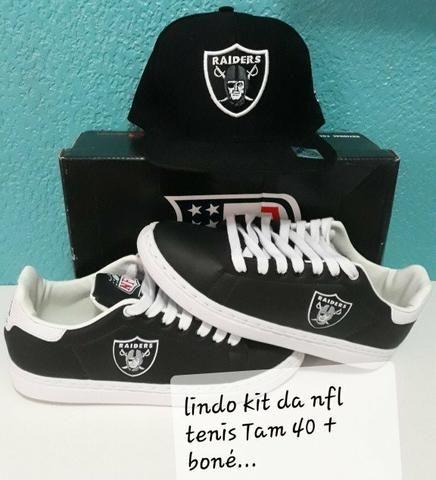 07f6ce55de658 Lindo kit de tênis e boné da Raiders - Roupas e calçados - Parque ...