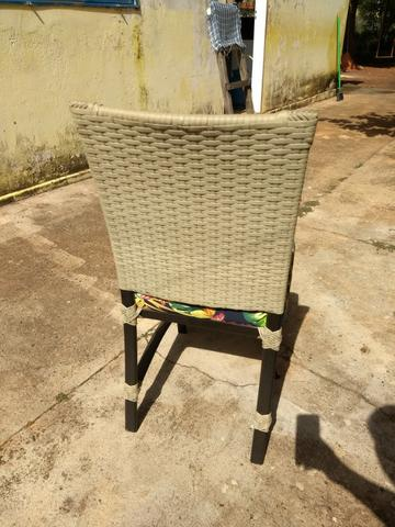 6 Cadeiras de Junco Seminovas - Foto 5