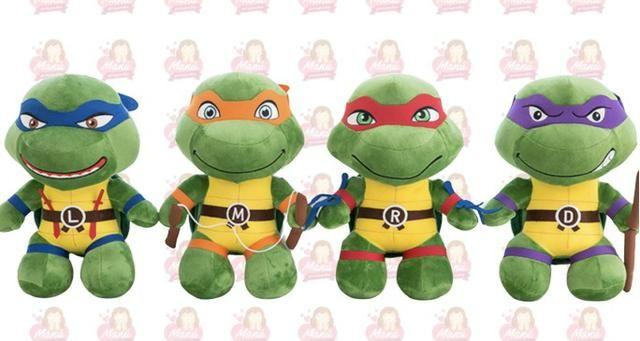 Tartaruga Ninja Pelu Cia 25cm Kit Com 4 Tartarugas Ninja Artigos