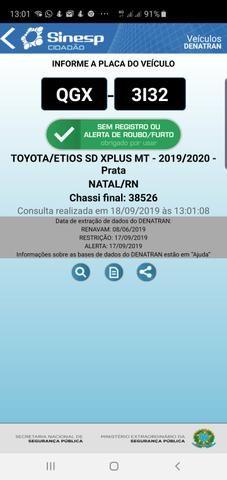 Toyota etios sedam 1.5 top 2020 aceito troca - Foto 9