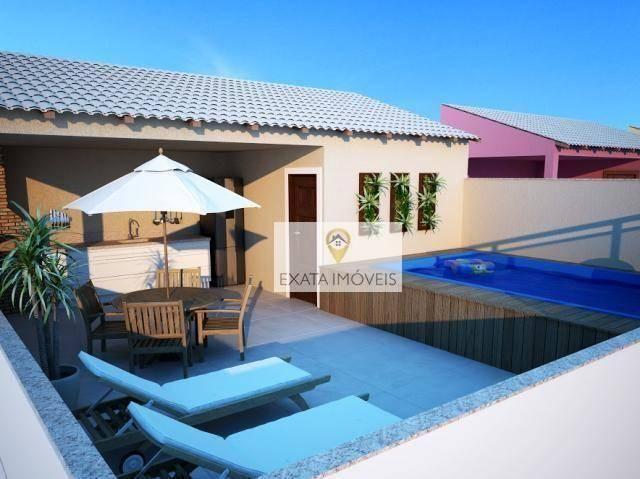 Lançamento! Casas triplex 03 suítes, terraço/piscina, Recreio, Rio das Ostras. - Foto 3