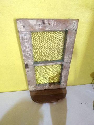 Pequeno Vitro antigo aparador parede - Foto 3