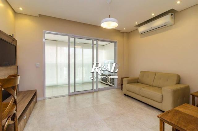 Apartamento com 1 dormitório para alugar, 53 m² por R$ 3.200,00/mês - Ponta da Praia - San