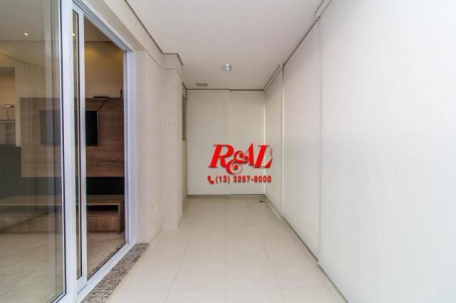 Apartamento com 1 dormitório para alugar, 53 m² por R$ 3.200,00/mês - Ponta da Praia - San - Foto 7