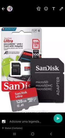 Cartão de memoria san disk 128GB