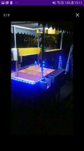 Bar móvel, com som e iluminação top... - Foto 3
