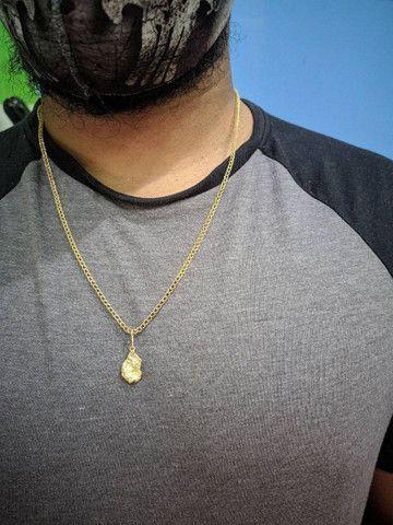 Cordão de prata banhado a ouro - Foto 4