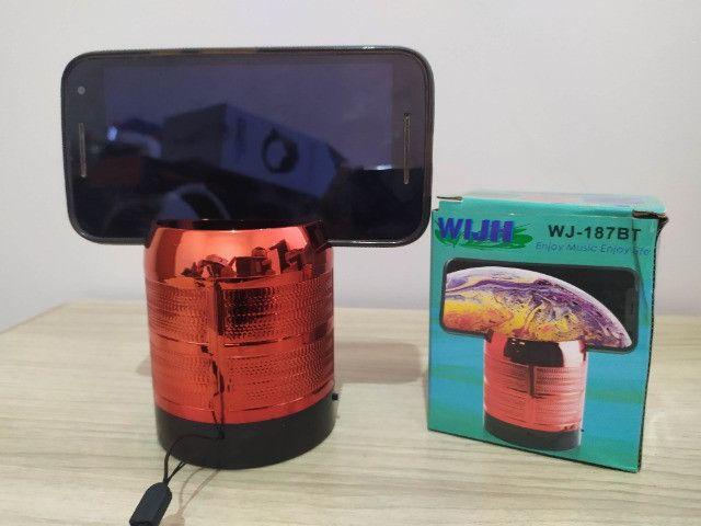 Caixa de Som WIJH - Bluetooth - Rádio - USB - Cartão SD - P2 - Foto 4