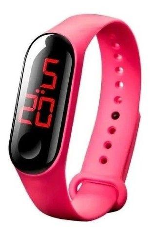 Relógio Led Sport Digital Data Hora e Segundos - Foto 2