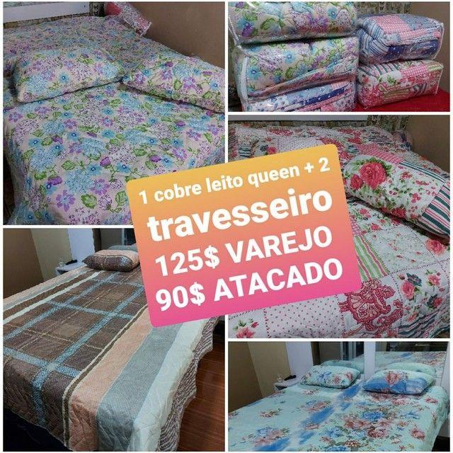 COBRE LEITO QUEEN + 2 TRAVESSEIRO  90$ PREÇO DE ATACADO APARTIR DE 6 PEÇAS