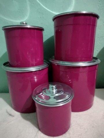 Mantimentos coloridos de alumínio  - Foto 6