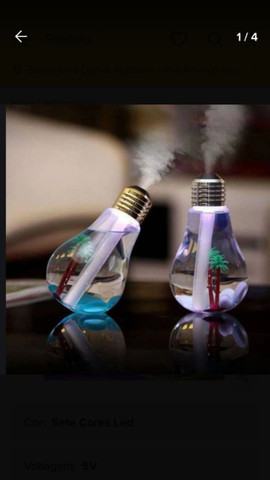 Lindo umidificador ultrassônico de ar luminária e abajur
