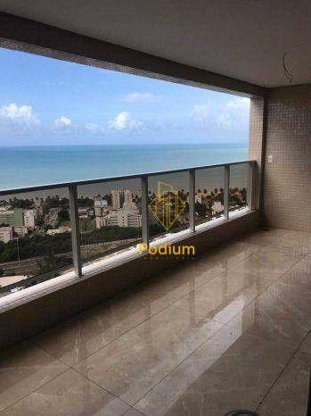 Apartamento no Complexo Tour Geneve com vista para o mar e varanda gourmet no Altiplano -