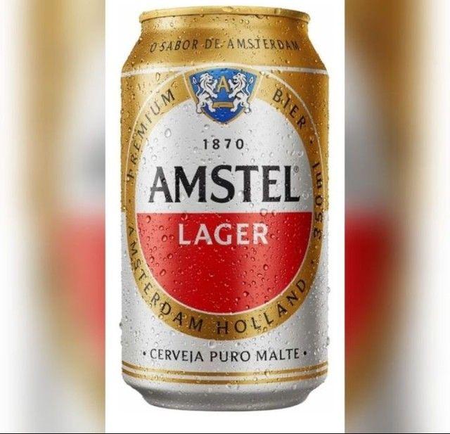Cerveja Amstel Langer Lata 350ml - Foto 3