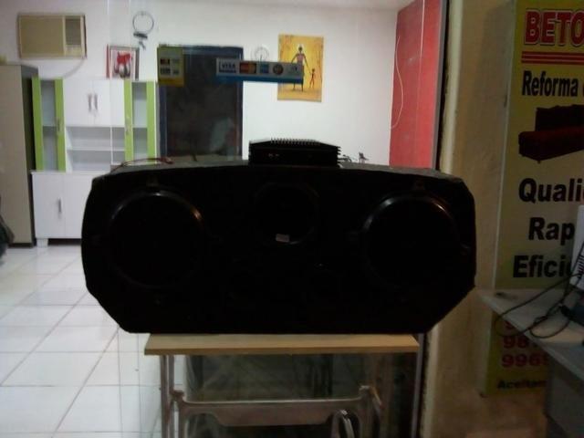 Caixa de som grande para carro com módulo