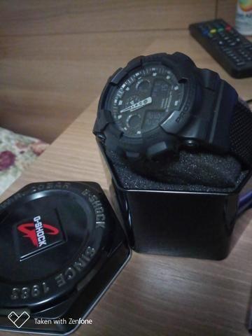cac7eebb663 Relógio Casio G-Shock Ga-100bbn-1 Pulseira Tecido Nylon - Foto 6