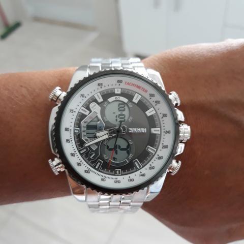 ad6cc2e49e9 Relógio skmei inoxidável original a prova d água - Bijouterias ...
