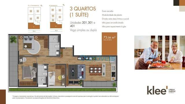 Apartamento com 3 dormitórios à venda, 73 m² por R$ 539.000 - Ecoville - Curitiba/PR - Foto 3