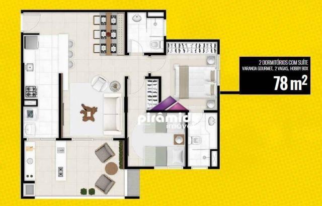 Apartamento à venda, 78 m² por r$ 616.000,00 - jardim aquarius - são josé dos campos/sp - Foto 6