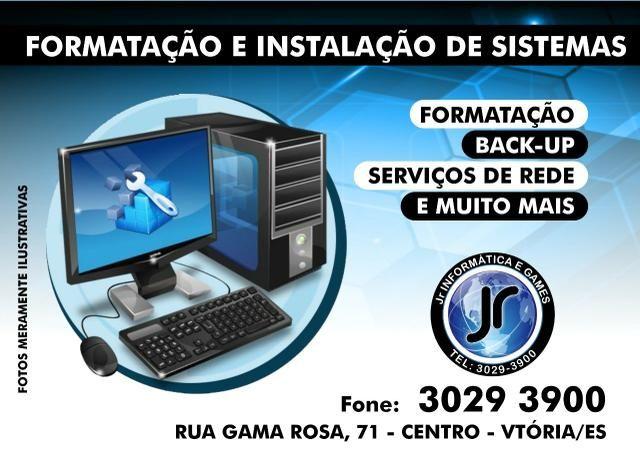 Assistência Técnica em Noteboos e Desktops.